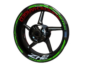 Kawasaki ZH2 Supercharged Wheel Stickers Standard (Front & Rear - Both Sides Included)