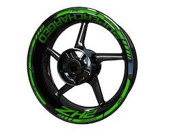 Kawasaki ZH2 Supercharged Wheel Stickers kit - Standard Design