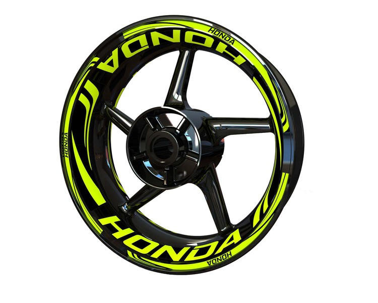Honda Wheel Stickers Plus (Front & Rear - Both Sides Included)
