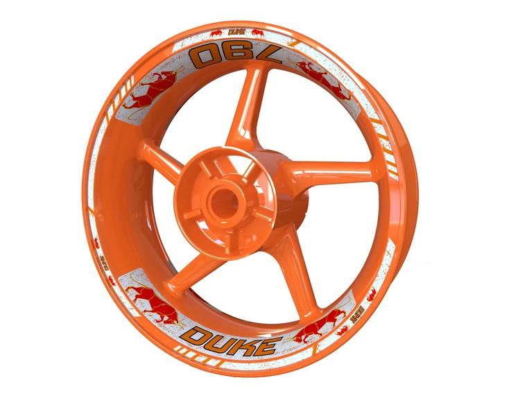 KTM 790 Duke Bull Wheel Stickers Standard (Front & Rear - Both Sides Included)