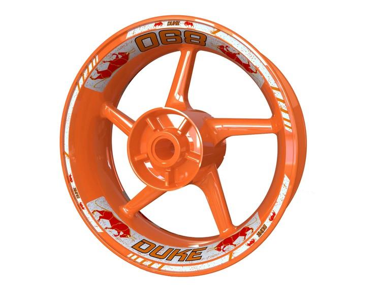 KTM 890 Duke Bull Wheel Stickers Standard (Front & Rear - Both Sides Included)