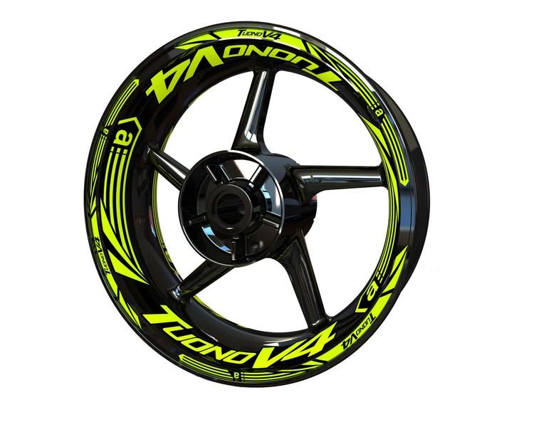 Aprilia Tuono V4 Wheel Stickers Plus (Front & Rear - Both Sides Included)
