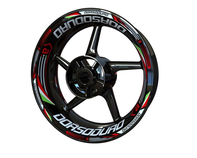 Aprilia Dorsoduro Wheel Stickers Plus (Front & Rear - Both Sides Included)