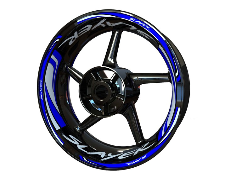 SLAYER Wheel Stickers Plus (Front & Rear - Both Sides Included)