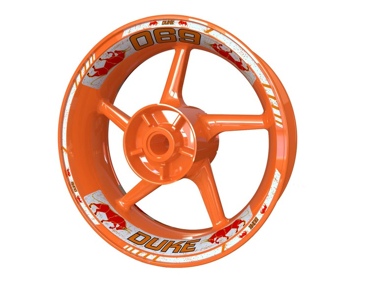 KTM 690 Duke Bull Wheel Stickers Standard (Front & Rear - Both Sides Included)