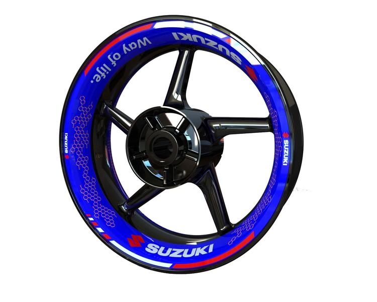 Suzuki Wheel Graphics Premium (Front & Rear - Both Sides Included)