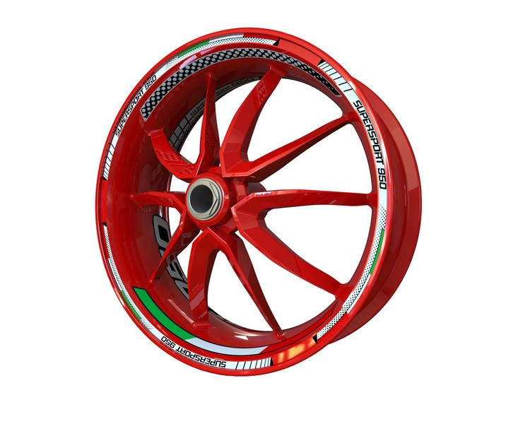 Ducati 950 Supersport Wheel Stickers Plus (Front & Rear - Both Sides Included)