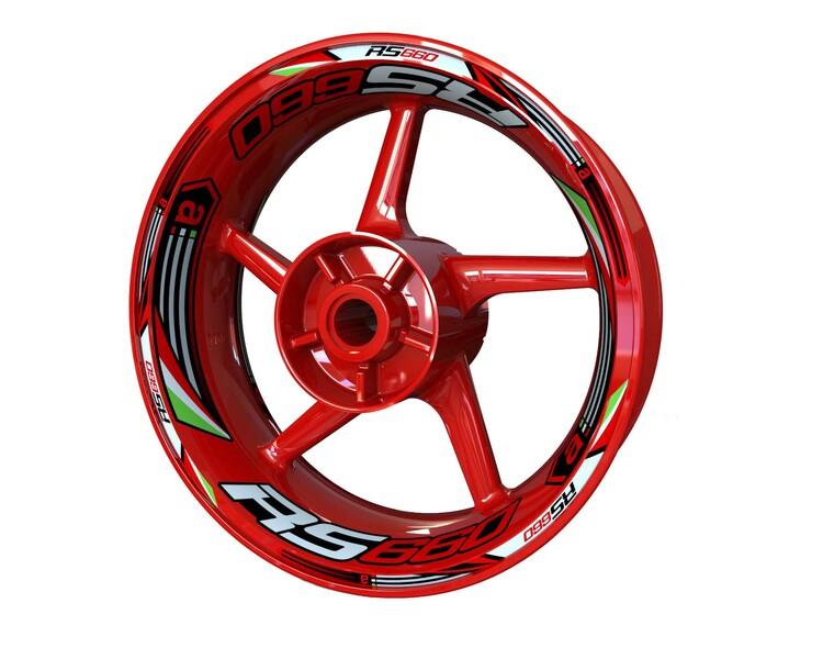 Aprilia RS660 Wheel Stickers kit - Plus Design