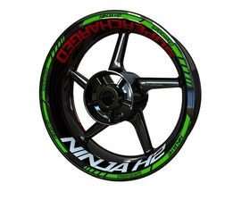 Ninja H2 Supercharged Wheel Stickers Standard (Front & Rear - Both Sides Included)