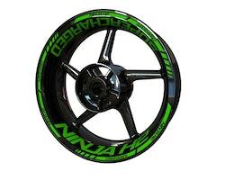 Kawasaki Ninja H2 Supercharged Wheel Stickers kit - Standard Design