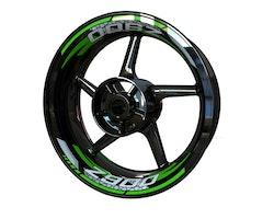 Kawasaki Z900 Wheel Stickers kit - 2-Piece Design V2