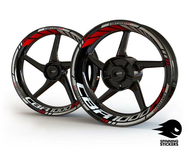 Honda CBR1000RR Wheel Stickers Standard (Front & Rear - Both Sides Included)