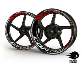 Honda CBR600RR Wheel Stickers Standard (Front & Rear - Both Sides Included)