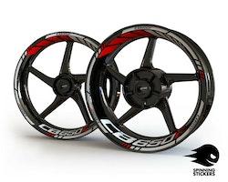Honda CB650F Wheel Stickers kit - Standard Design