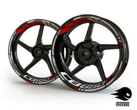 Honda CB650F Wheel Stickers Standard (Front & Rear - Both Sides Included)