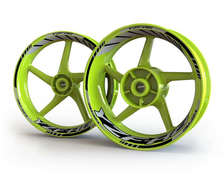 Yamaha YZF-R6 Wheel Stickers kit - Standard Design