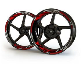 YZF-R1 Wheel Stickers Standard (Front & Rear - Both Sides Included)