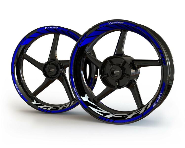 Yamaha YZF-R1 Wheel Stickers kit - Standard Design