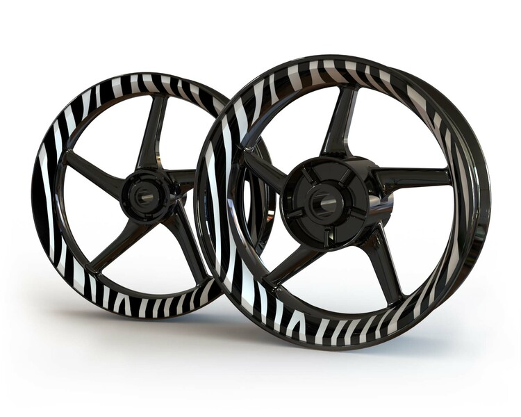 Zebra Wheel Stickers kit - Premium Design