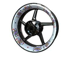Royal Cards Wheel Stickers kit - Premium Design