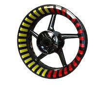 Thin Stripes Felgenaufkleber Premium (vorne und hinten - beide Seiten enthalten)