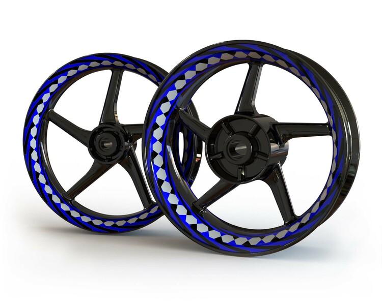 Fraser Spiral Wheel Stickers kit - Premium Design