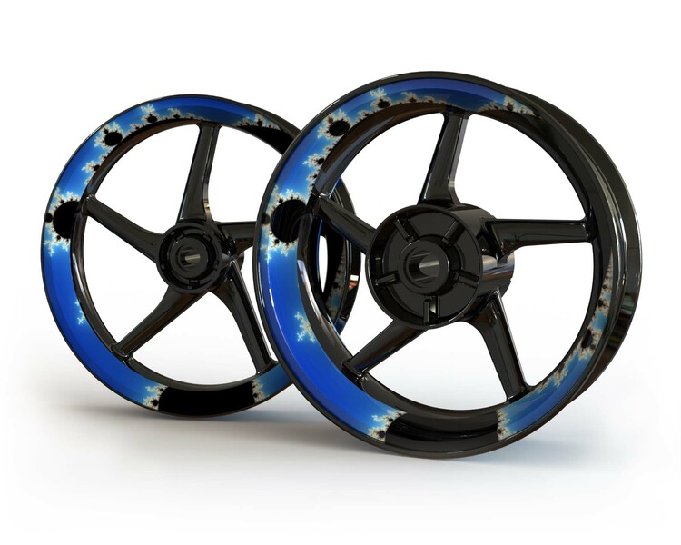 Mandelbrot Wheel Stickers kit - Premium Design