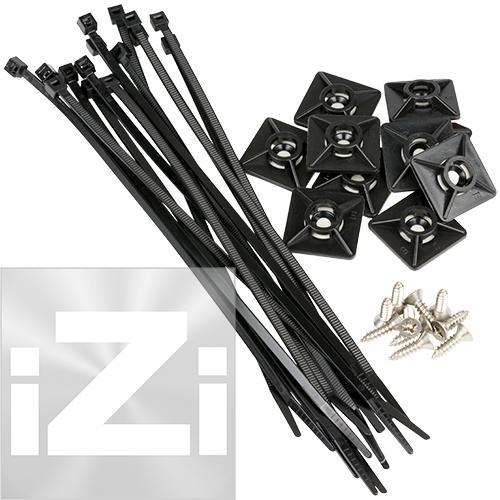 Kabelhållarsats Svart 27 x 27 mm