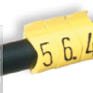Kabelmärkning Gul 0,75-6 mm², 100-p