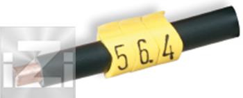 Kabelmärkning Gul 4-10 mm²
