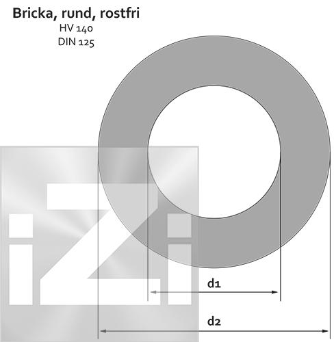 Bricka Rostfri M8