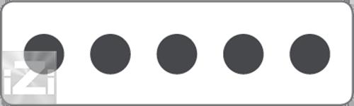 Kopplingsplint 5x10 mm² hålbild Skyllermarks