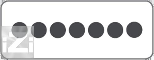 Kopplingsplint 7x6 mm² hålbild  Skyllermarks
