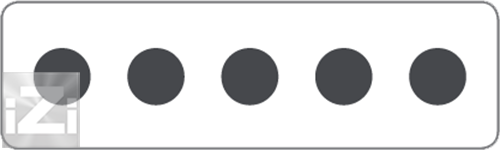 Kopplingsplint 5x95 mm² hålbild Skyllermarks