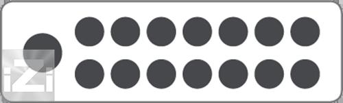 Kopplingsplint 1x70+14x16 mm² hålbild Skyllermarks
