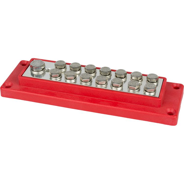 E0831 Kopplingsplint förtennad 1x70+14x16 mm² röd Skyllermarks