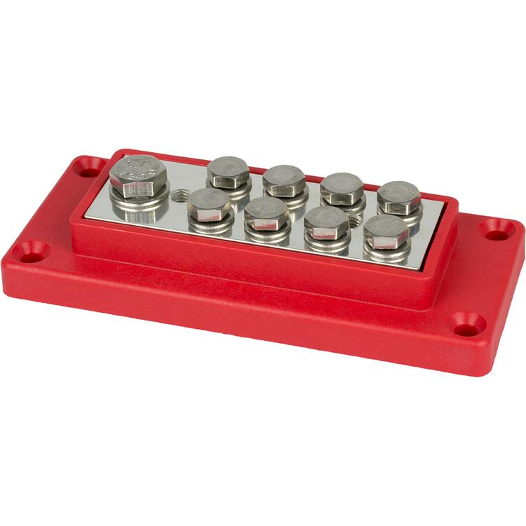 E0841 Kopplingsplint förtennad 1x70 + 8x16 mm² röd Skyllermarks