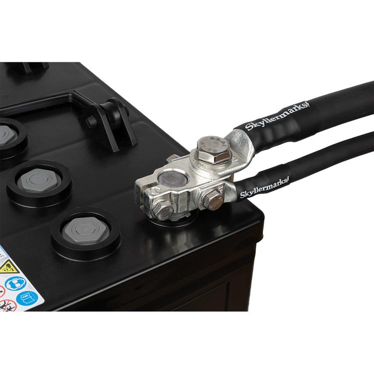 Polplint M10 35/120 mm² minus med kablar Skyllermarks