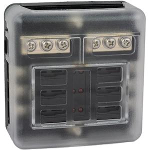 Säkringsbox / Säkringspanel för 6 st flatstiftsäkringar