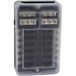 Säkringsbox / Säkringspanel för 12 st flatstiftsäkringar