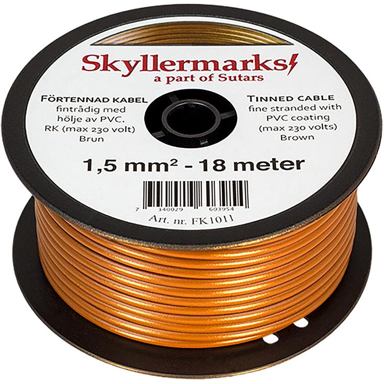 Minirulle Enledad Förtennad brun 1,5 mm² - 18 m Skyllermarks FK1011