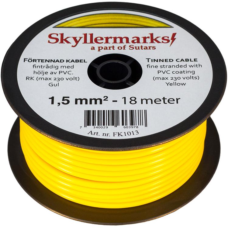 Minirulle Enledad Förtennad gul 1,5 mm² - 18 m Skyllermarks FK1013