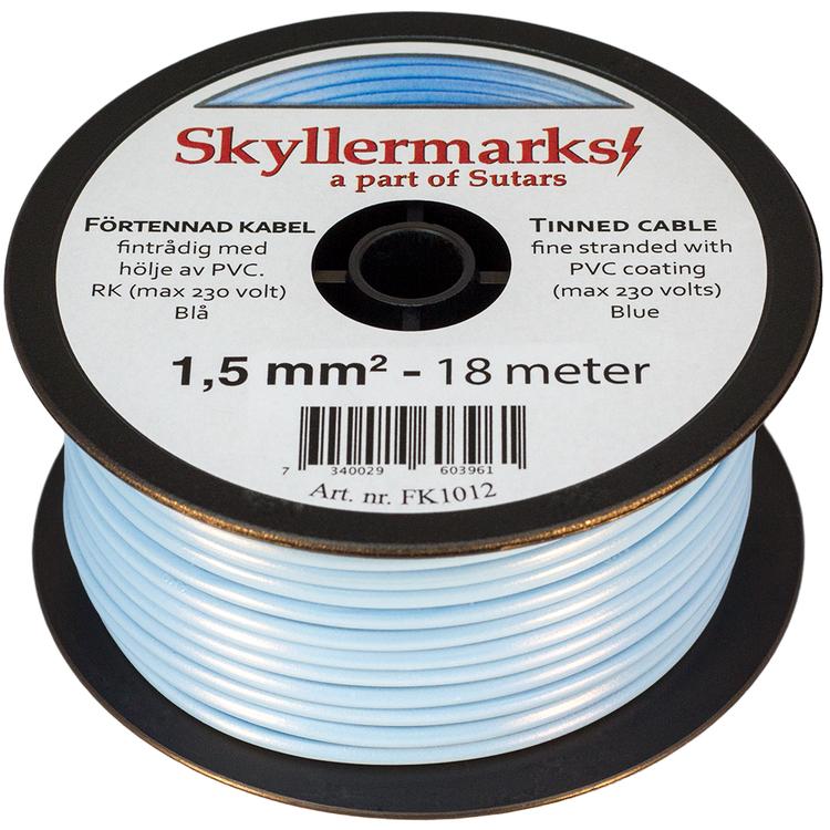 Minirulle Enledad Förtennad blå 1,5 mm² - 18 m Skyllermarks FK1012