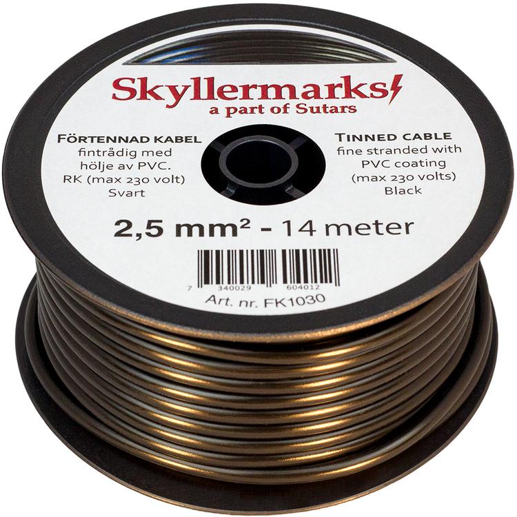 Minirulle Enledad Förtennad svart 2,5 mm² - 14 m Skyllermarks FK1030