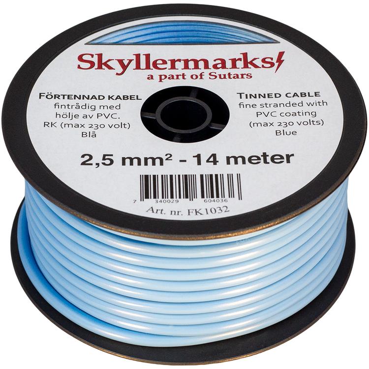 Minirulle Enledad Förtennad blå 2,5 mm² - 14 m Skyllermarks FK1032