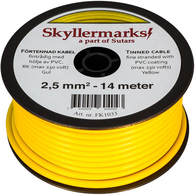 Minirulle Enledad Förtennad gul 2,5 mm² - 14 m Skyllermarks FK1033