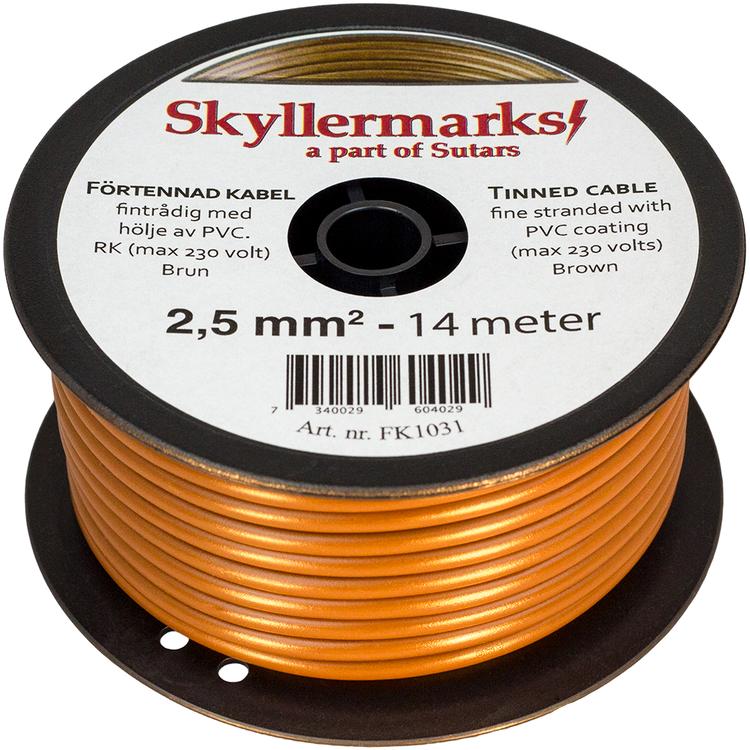 Minirulle Enledad Förtennad brun 2,5 mm² - 14 m Skyllermarks FK1031