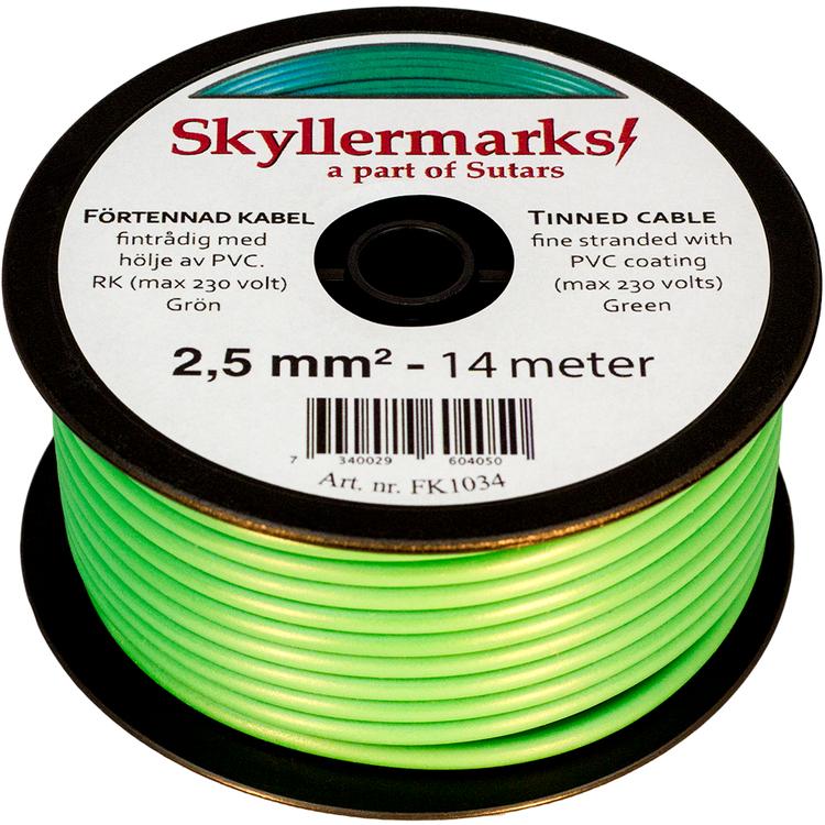 Minirulle Enledad Förtennad grön 2,5 mm² - 14 m Skyllermarks FK1034