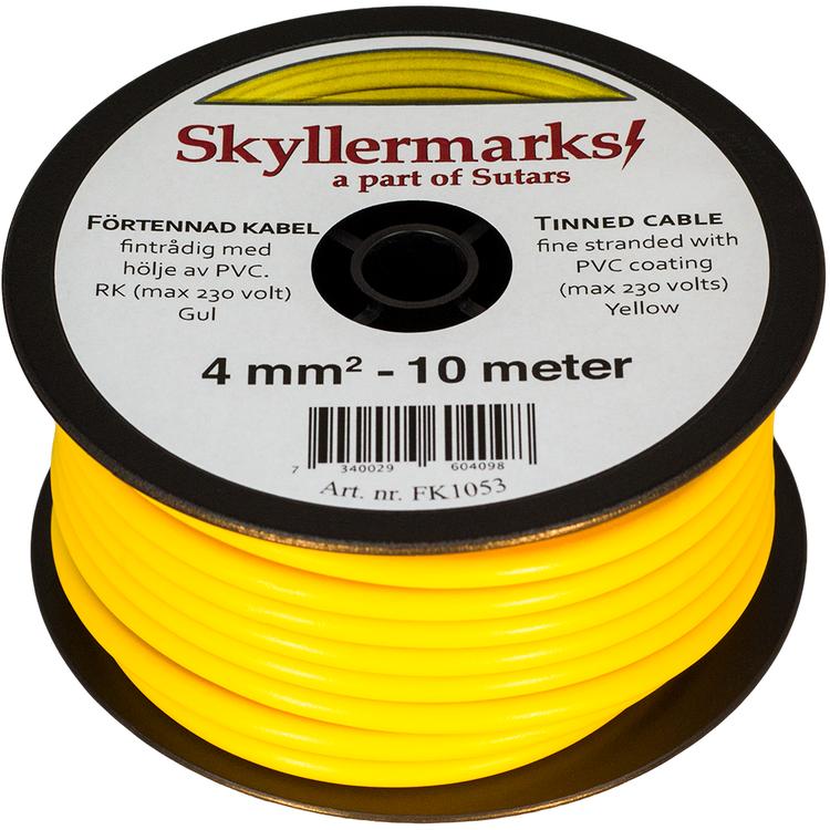 Minirulle Enledad Förtennad gul 4 mm² - 10 m Skyllermarks FK1053