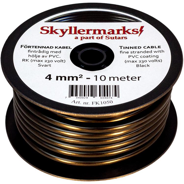 Minirulle Enledad Förtennad svart 4 mm² - 10 m Skyllermarks FK1050
